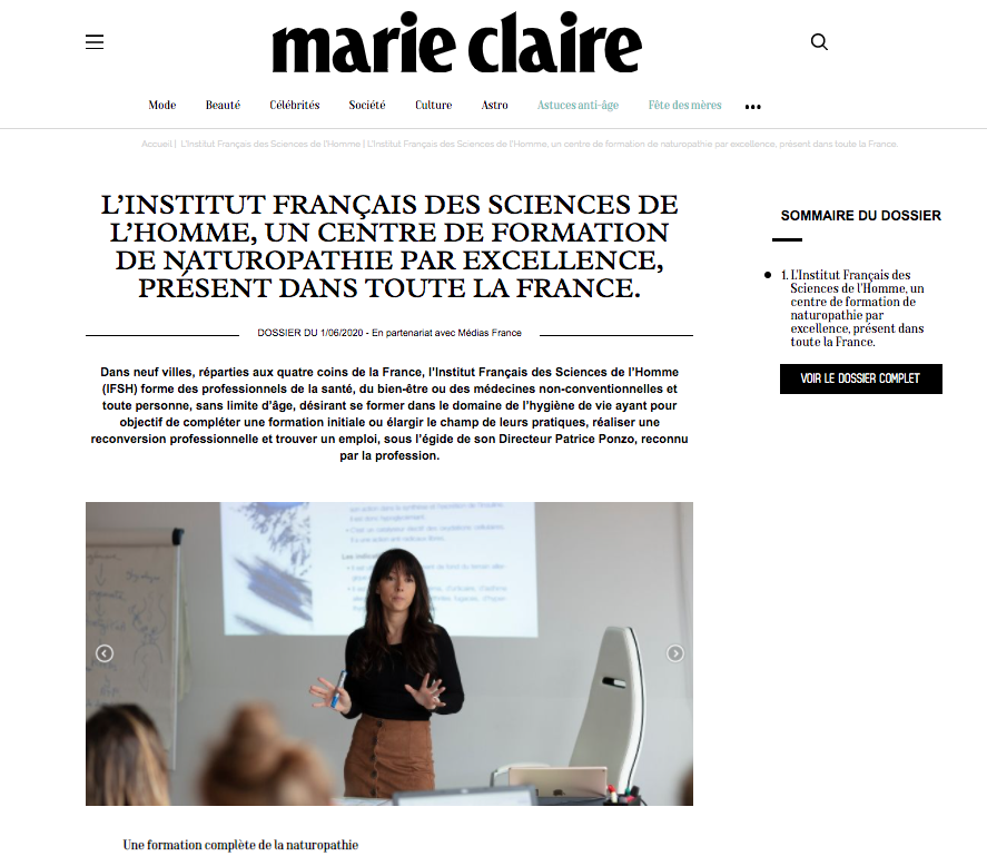 IFSH x Marie Claire